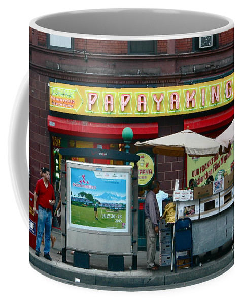 Nyc Coffee Mug featuring the photograph Papaya King by Mark Gilman