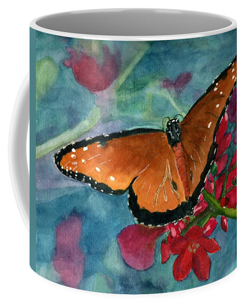 Butterfly Coffee Mug featuring the painting Papilio Fandango by Lynne Reichhart