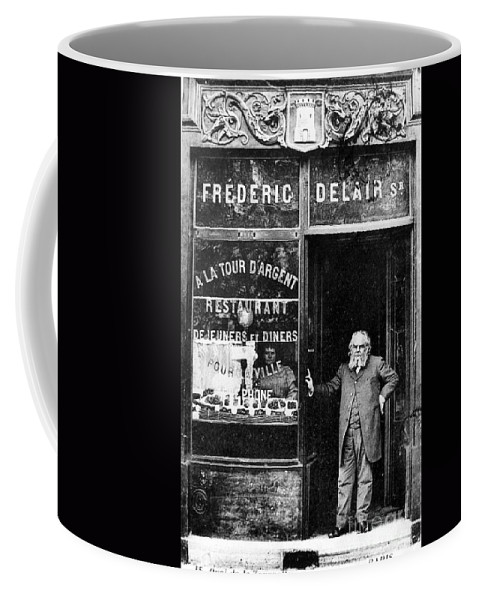 1890s Coffee Mug featuring the photograph Paris Restaurant, 1890s - To License For Professional Use Visit Granger.com by Granger