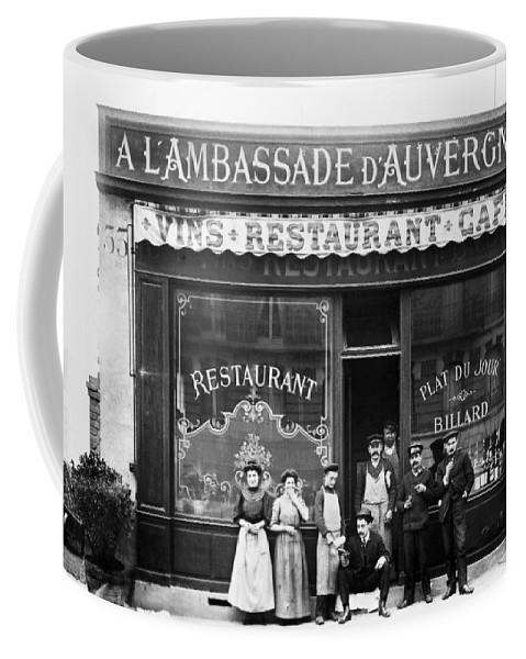 1900 Coffee Mug featuring the photograph Paris: Restaurant, C1900 by Granger