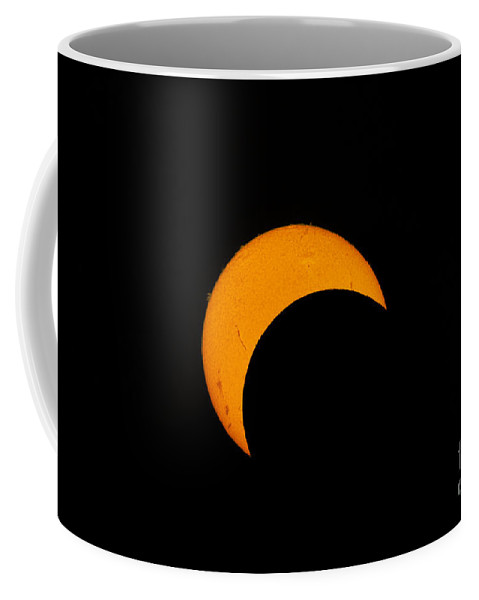 Natural Phenomenon Coffee Mug featuring the photograph Partial Solar Eclipse Of 2012 by Phillip Jones
