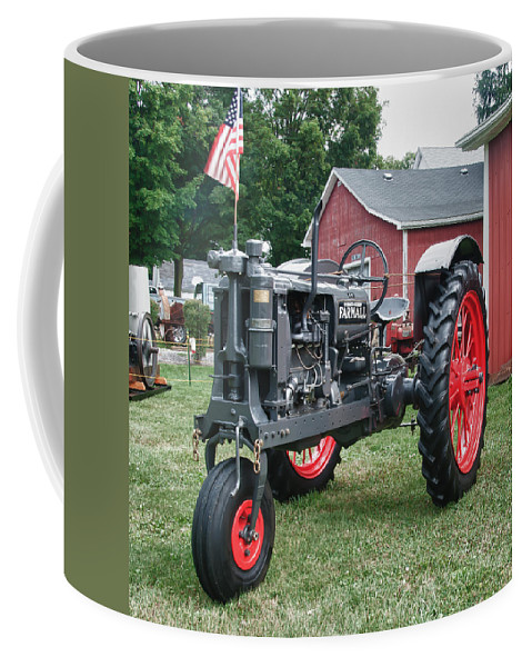 Barn Coffee Mug featuring the photograph Patriotic Farmall by Guy Whiteley