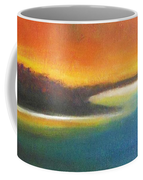 Seascape Coffee Mug featuring the painting Aurora by Vesna Antic