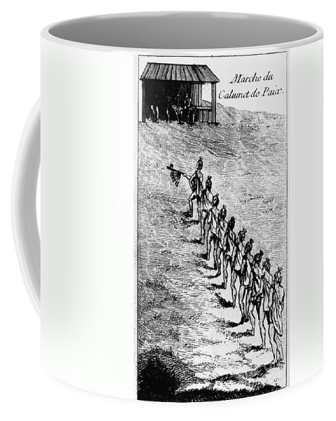 1718 Coffee Mug featuring the photograph Peace Pipe Ceremony, 1718 by Granger