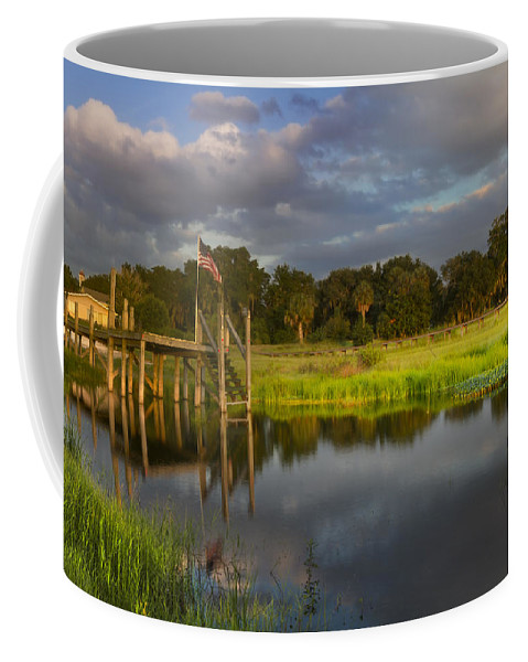 Boats Coffee Mug featuring the photograph Peaceful Evening by Debra and Dave Vanderlaan