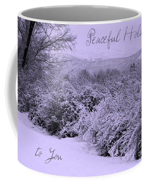 Peaceful Holiday Card Coffee Mug featuring the photograph Peaceful Holidays To You by Carol Groenen