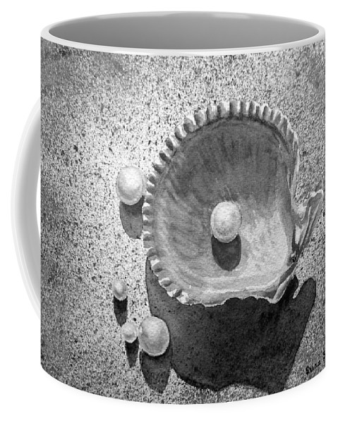 Sea Shell Coffee Mug featuring the painting Pearls by Irina Sztukowski