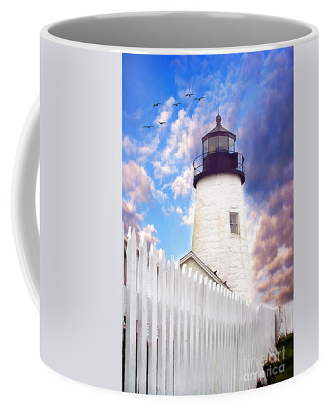 American Coffee Mug featuring the photograph Pemaquid Point by Darren Fisher