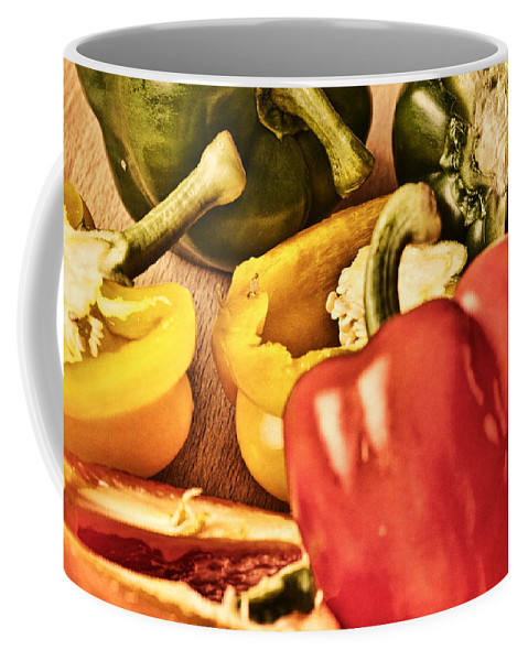 Peppers Coffee Mug featuring the photograph Peppered 4 by Steve Purnell