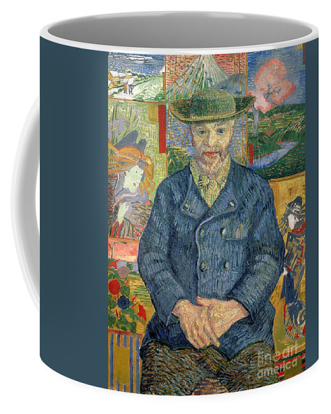 Post-impressionist; Portrait; Male; Paintings; Art Dealer; Screen; Julien Coffee Mug featuring the painting Pere Tanguy by Vincent van Gogh