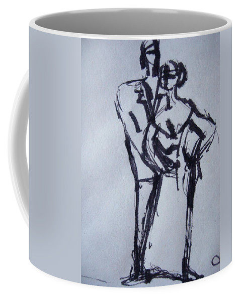 Couple Coffee Mug featuring the drawing Perfect Couple by Diane montana Jansson