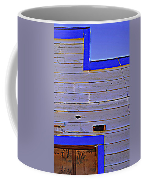 Old West Building Facade Coffee Mug featuring the photograph Periwinkle Sky by Diane montana Jansson