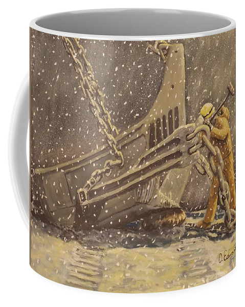 Worker Coffee Mug featuring the painting Perseverance by Carey MacDonald