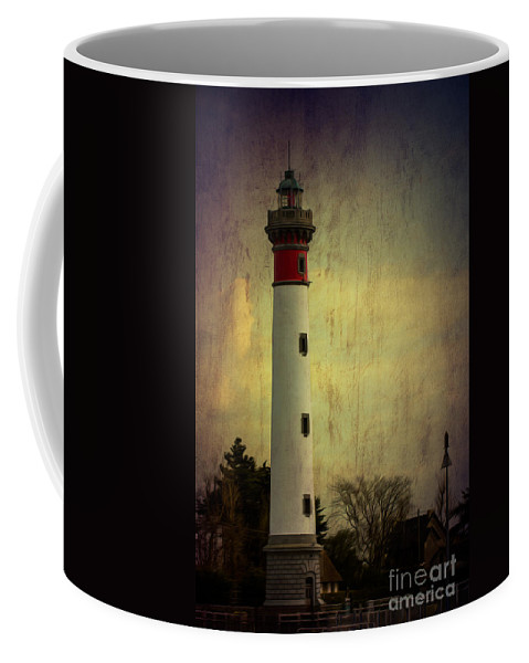 Texture Coffee Mug featuring the photograph Phare De Ouistreham Or Ouistreham Lighthouse  Caen by Clare Bambers