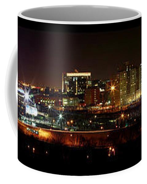 Philadelphia Night Panoramic Skyline Coffee Mug featuring the photograph Philly Night Panoramic by Alice Gipson