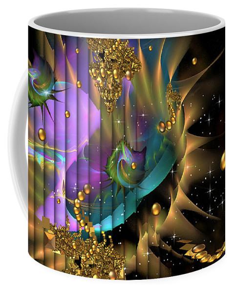 Phil Sadler Coffee Mug featuring the digital art Phool's Gold by Phil Sadler