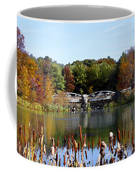 Photo Coffee Mug featuring the photograph Photo Watercolour Lincoln Woods Ri by Mike Nellums