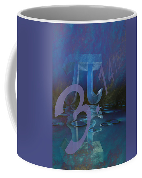 Abstract Coffee Mug featuring the digital art Pi by Carol and Mike Werner