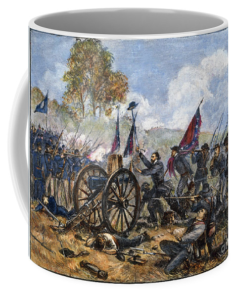 1863 Coffee Mug featuring the photograph Picketts Charge, 1863 by Granger