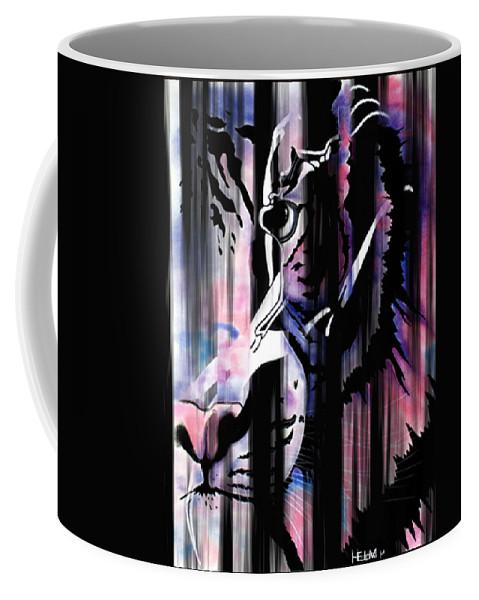 Painting Paintings Drawings Drawings Coffee Mug featuring the digital art Piercing Caliente by Mayhem Mediums