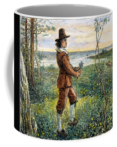 1620s Coffee Mug featuring the photograph Pilgrim, 1620s by Granger