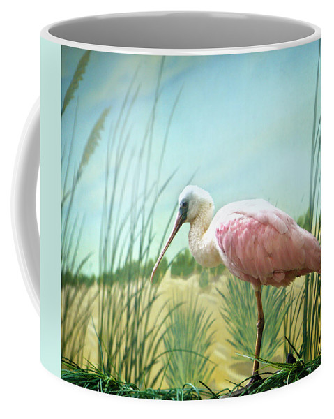 Pink Coffee Mug featuring the photograph Pink Flamingo by Marilyn Hunt