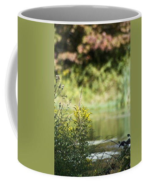 Pond Coffee Mug featuring the photograph Pink In The Distance by Trish Tritz