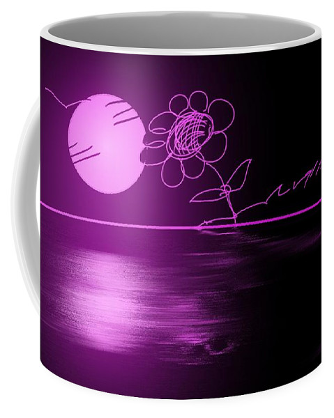 Landscape Coffee Mug featuring the painting Pink Sunset by George Pedro