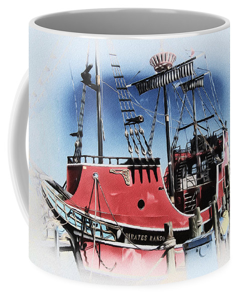 Pirates Ransom - Clearwater Florida Coffee Mug featuring the photograph Pirates Ransom - Clearwater Florida by Bill Cannon