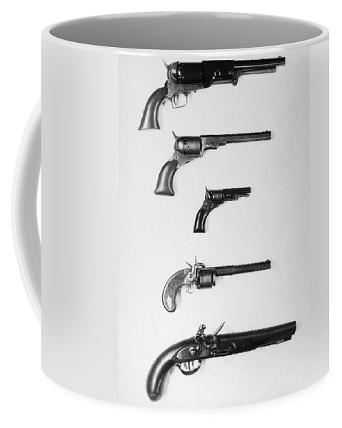 18th Century Coffee Mug featuring the photograph Pistols And Revolvers by Granger
