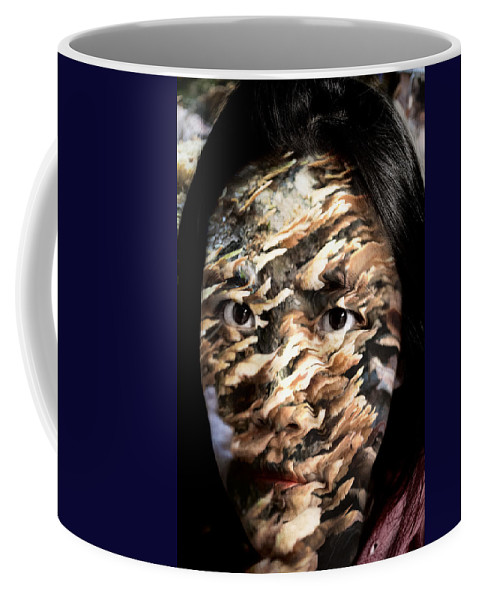 Plate Coffee Mug featuring the painting Plates Of Woe by Christopher Gaston