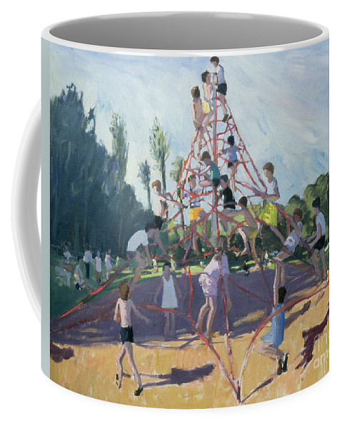 Climbing Frame Coffee Mug featuring the painting Playground by Andrew Macara