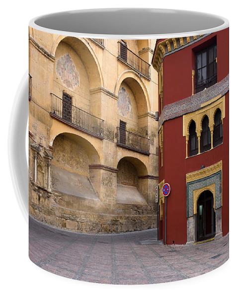 Mezquita Coffee Mug featuring the photograph Plaza Del Triunfo In Cordoba by Artur Bogacki