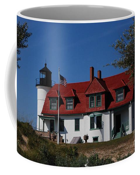 Point Betsie Light Station Coffee Mug featuring the photograph Point Betsie Light Station by Grace Grogan