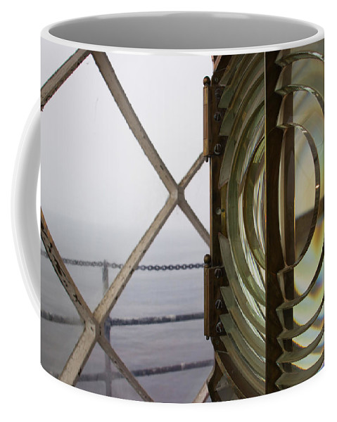 Lighthouse Coffee Mug featuring the photograph Point Vicente Lighthouse 3rd Order Fresnal Light by Heidi Smith