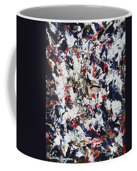 Abstract Coffee Mug featuring the painting Pollock by Claire Gagnon