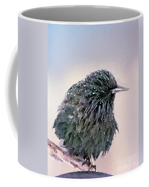 European Starling Coffee Mug featuring the photograph Poor Decision by Betty LaRue