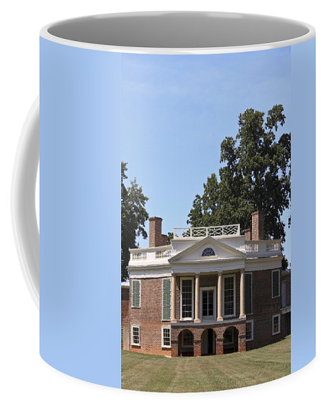 Poplar Forest Coffee Mug featuring the photograph Poplar Forest From The Lawn by Teresa Mucha
