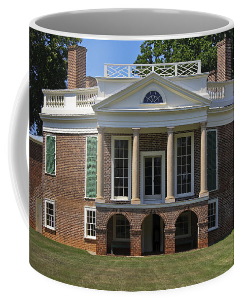 Poplar Forest Coffee Mug featuring the photograph Poplar Forest From The South Lawn by Teresa Mucha