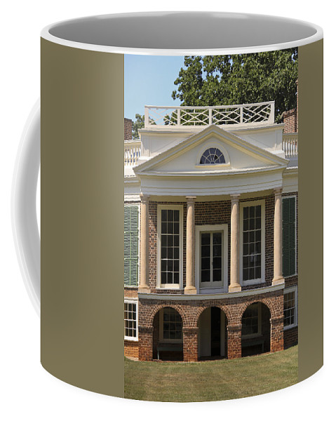 Poplar Forest Coffee Mug featuring the photograph Poplar Forest South Portico by Teresa Mucha