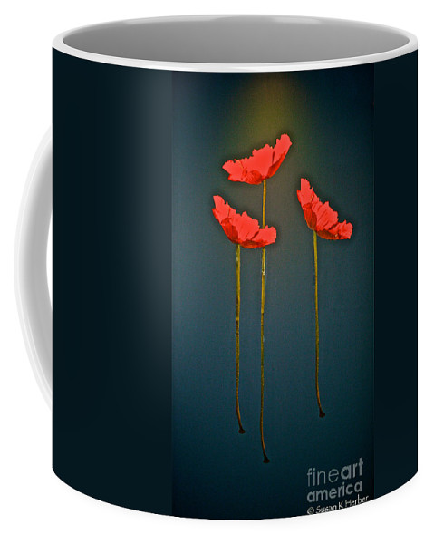 Floral Coffee Mug featuring the photograph Poppy Power by Susan Herber