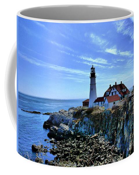 Maine Coffee Mug featuring the photograph Portlandhead Light by Nancie DeMellia