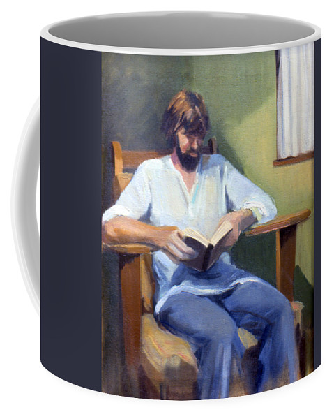 Potrait Coffee Mug featuring the painting Portrait Study 1984 by Nancy Griswold