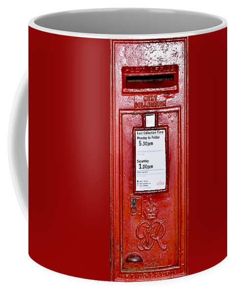 Ancient Coffee Mug featuring the photograph Post Box by Svetlana Sewell