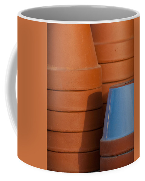 Abstract Coffee Mug featuring the photograph Pots In Sun by Sean Wray