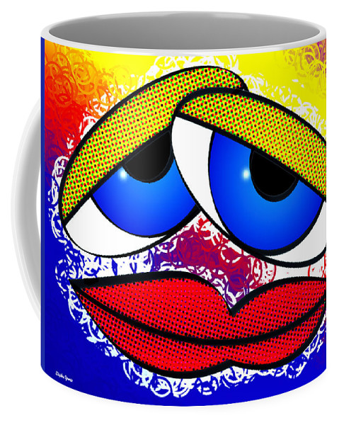 Pout Coffee Mug featuring the digital art Pout by Stephen Younts