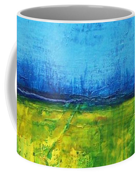 Landscape Coffee Mug featuring the painting Splendor In The Grass by Vesna Antic