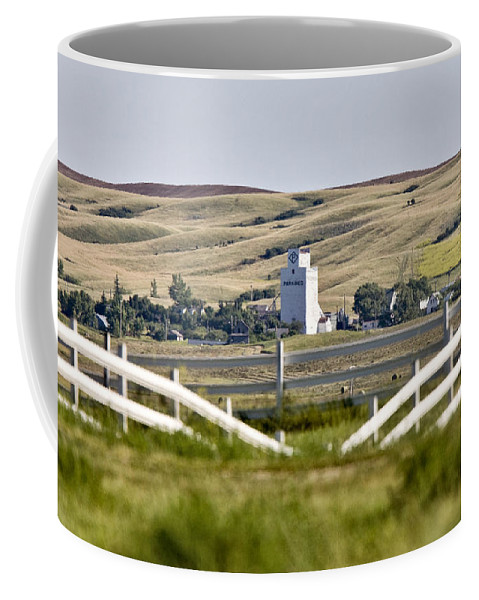 Storage Coffee Mug featuring the photograph Prairie Town With Elevator by Mark Duffy