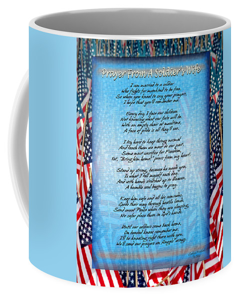 Veterans Coffee Mug featuring the photograph Prayer From A Soldiers Wife by Carolyn Marshall