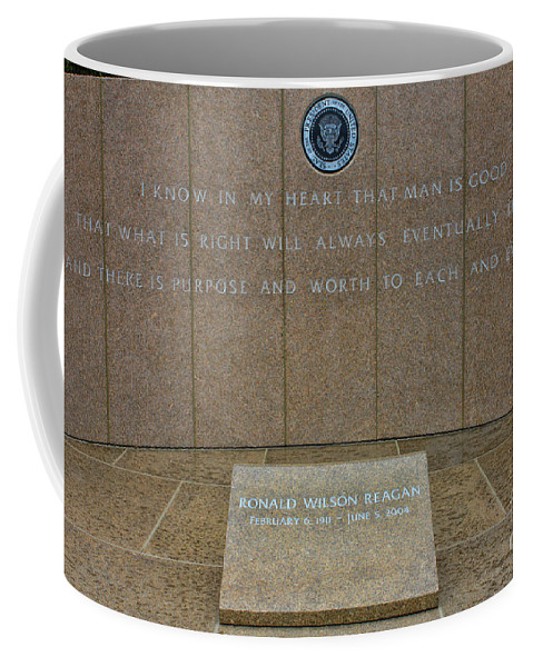 President Ronald Reagan Coffee Mug featuring the photograph President Ronald Reagan Resting Place by Tommy Anderson